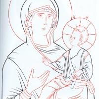Богоматерь Одигитрия прорись